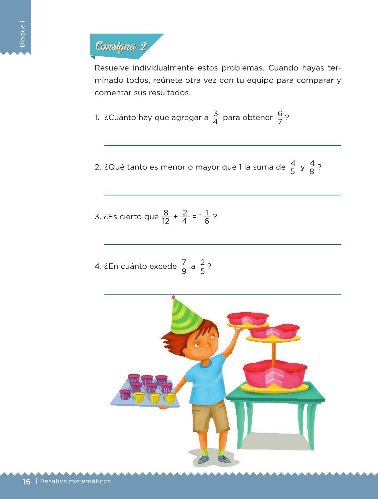 Desafíos Matemáticos libro para el alumno Sexto grado 2016 ...
