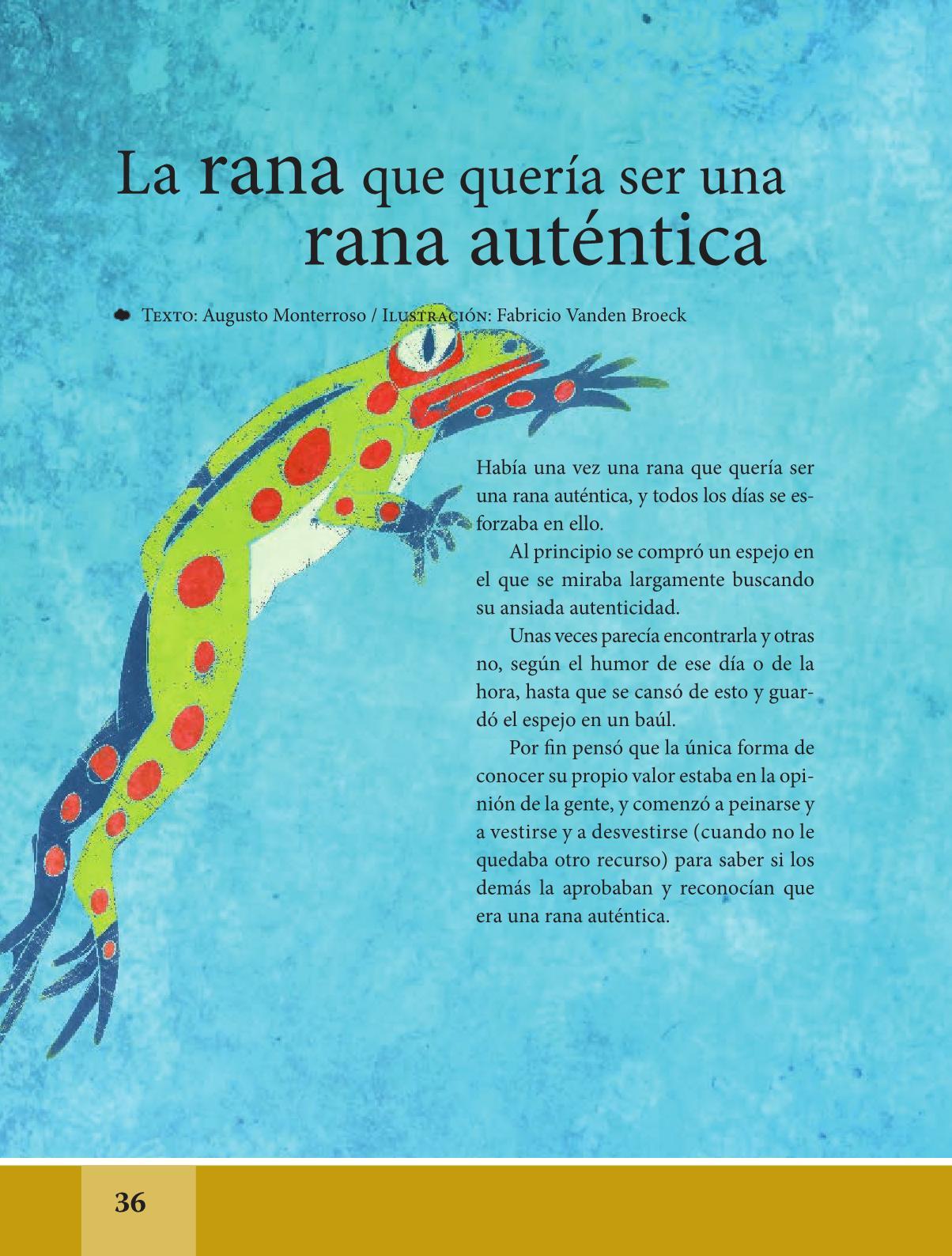 Espa ol libro de lectura sexto grado 2016 2017 online for Espanol lecturas cuarto grado 1993